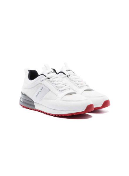 Replay White Man Shoes