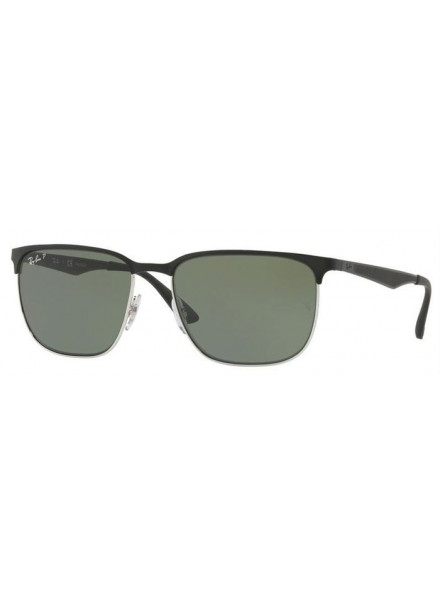 RAYBAN RB3569 SILVER TOP SHINY BLACK S.59