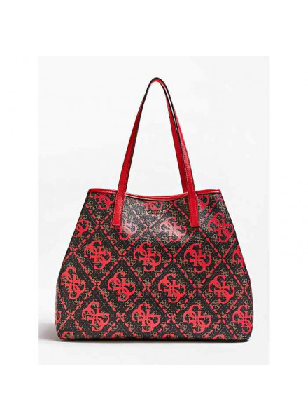 Guess Vikky Large Red Multi Bag