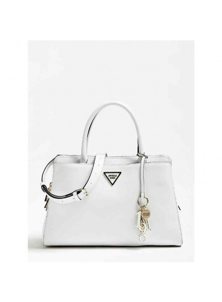 Guess Maddy Girlfrien Satchel  White Bag