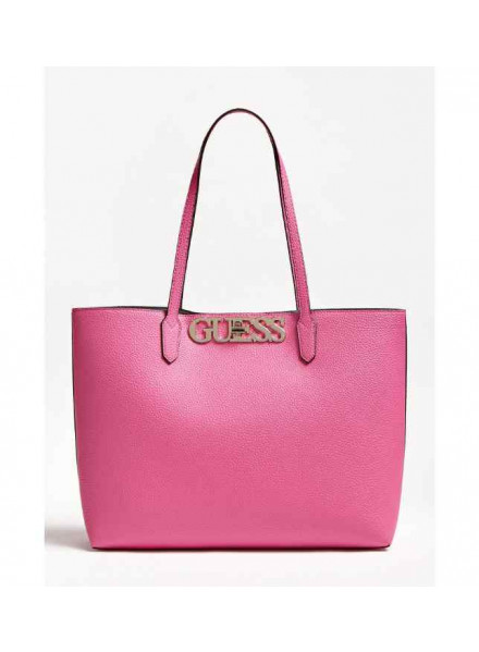 Guess Uptown Chic Barcelona Tote Pink Woman Bag