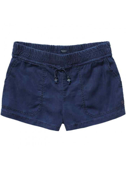 Pepe Jeans Sadie Blue Denim Woman Short