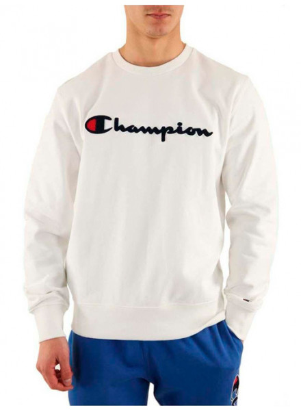 Champion Crewneck White Sweatshirt Man