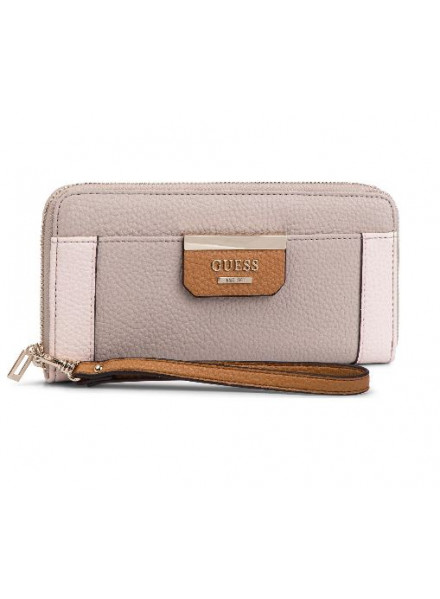 Guess Bobbi SLG Large Zip Aroung Taupe Wallet