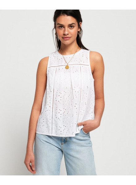 Superdry Shell Schiffli White Woman T-Shirt