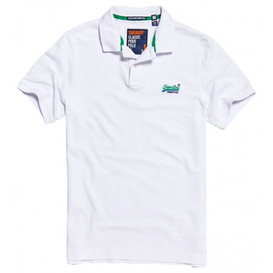 Polo Superdry Classic Pique Optic Whit