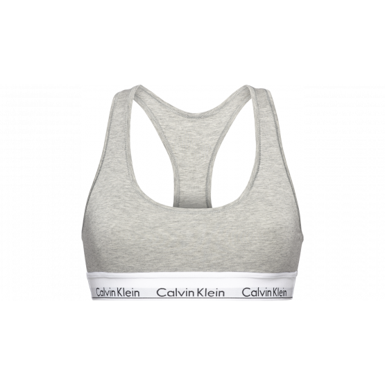 SUJETADOR LETTE CALVIN KLEIN GREY HEATHER T-L