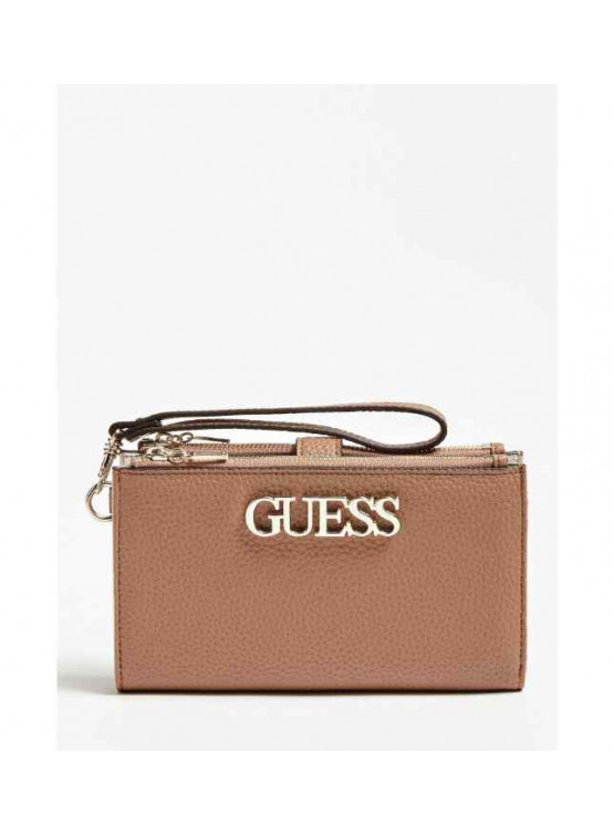Billetero Guess Uptown Chic Slg Dbl Zip Orgnzr Tan