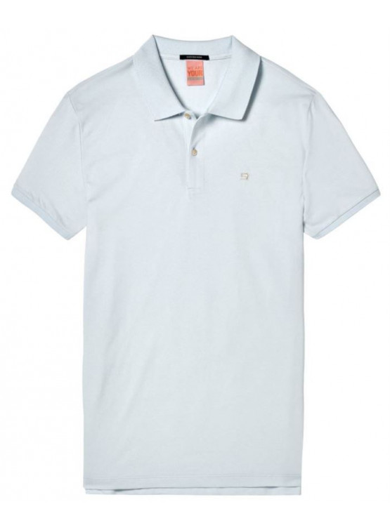 Polo Pique Scotch & Soda Classic C Blue