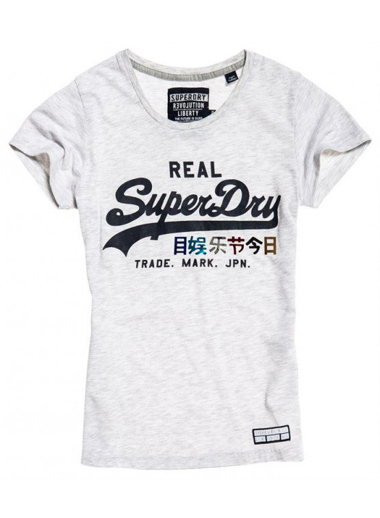 Camiseta Superdry Logo Foil Pop Ice Marl