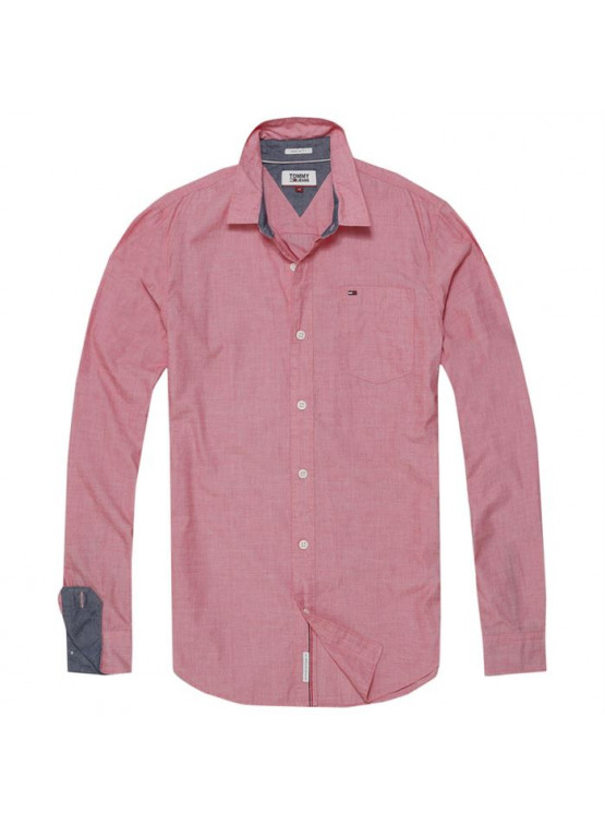 Camisa Tommy Hilfiger Solid Racing Red