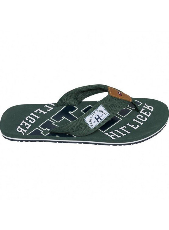 Chanclas Tommy Hilfiger Th Beach Jungle Gre