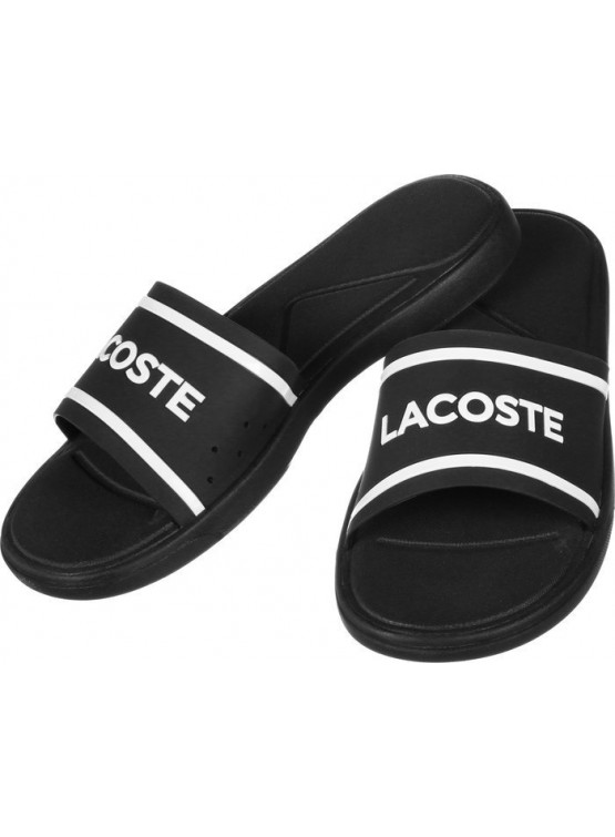 Chanclas Lacoste Slide 118 3 Black/Wh