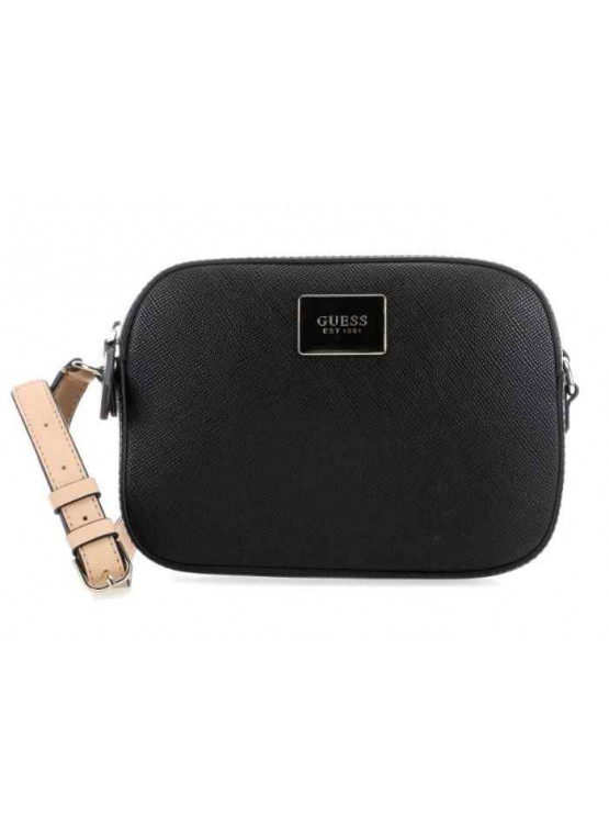 Bandolera Guess Kamryn Crossbody Top Zip Black