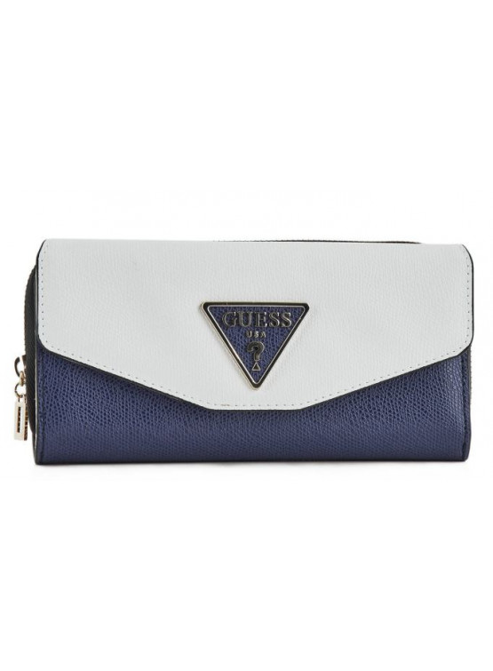 Billetero Guess Maddy Slg Lrg Clutch Organizer Navy Multi