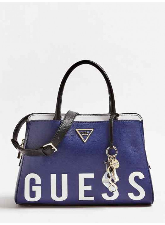 Bolso Guess Maddy Girlfriend Satchel  Navy Multi