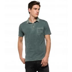REPLAY POLO PET GREY HOMBRE