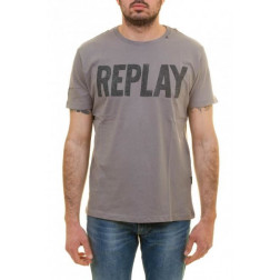 REPLAY GREY CAMISETA HOMBRE