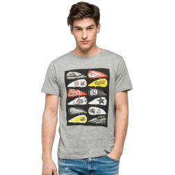 REPLAY GREY MELAN CAMISETA HOMBRE