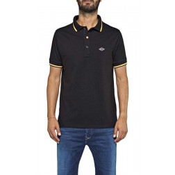 Polo Replay Strech Black Hombre
