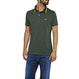 Polo Replay Strech Dark Green Hombre