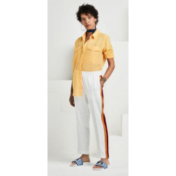 Pantalón Maison Tapered Leg Off White Mujer