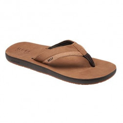 CHANCLA REEF LEATHER CONTOURED TAN