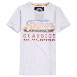 CAMISETA SUPERDRY LITE WEIGHT SWOOSH WHITE HOMBRE