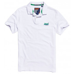 POLO SUPERDRY CLASSIC PIQUE OPTIC WHITE HOMBRE