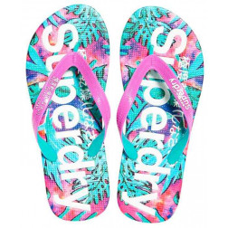 Chancla Superdry Aop Shadow Lea Mujer