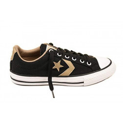 ZAPATILLAS CONVERSE STAR PLAYER ALL STAR NEGRAS/ORO MUJER