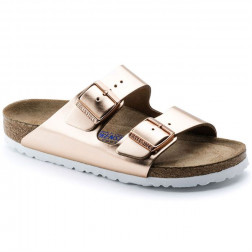 SANDALIA BIRKENSTOCK ARIZONA SFB METALLIC COPPER MUJER