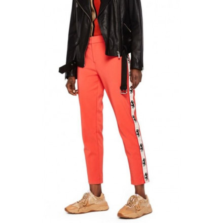 Pantalones Maison Stretch Tailored Coral