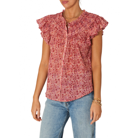 BLUSA ELLIE S/S FRILL MABE MUJER
