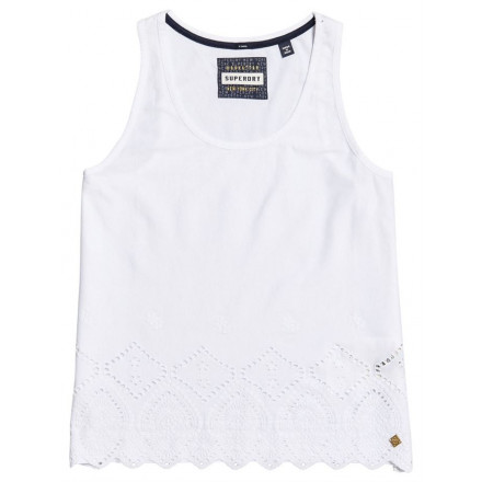 Camiseta Superdry Pacific Broderie Liner Whit