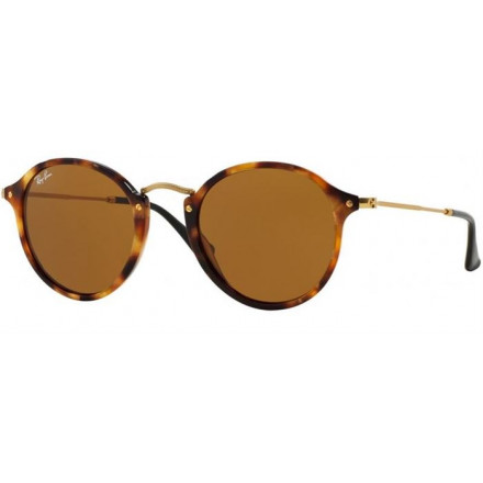 RAYBAN ROUND/CLASSIC SPORTTED BROWN HAVANA