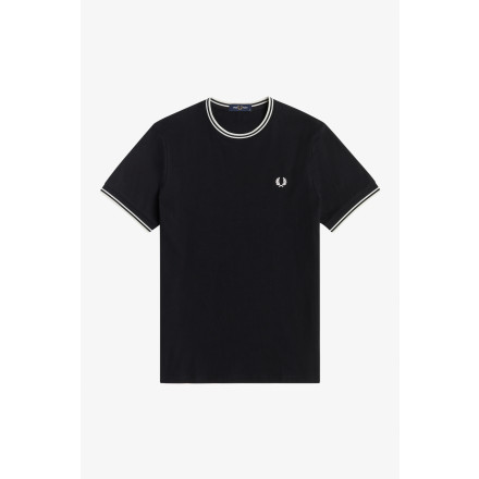 CAMISETA TWIN TIPPED FRED PERRY HOME