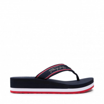 CHANCLA TOMMY HLFIGER MID WEDGE BEACH MUJER
