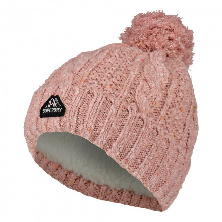 GORRO SUPERDRY GRACIE CABLE PINK