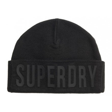 GORRO SUPERDRY SURPLUS SILICONE LOGO BLACK