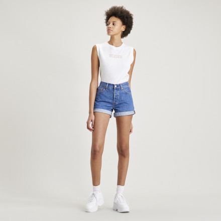 SHORT 501 ROLLED LEVIS MUJER