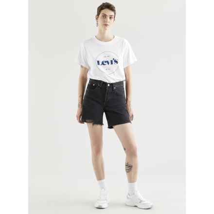 SHORT 501 MID THIGH LEVIS MUJER