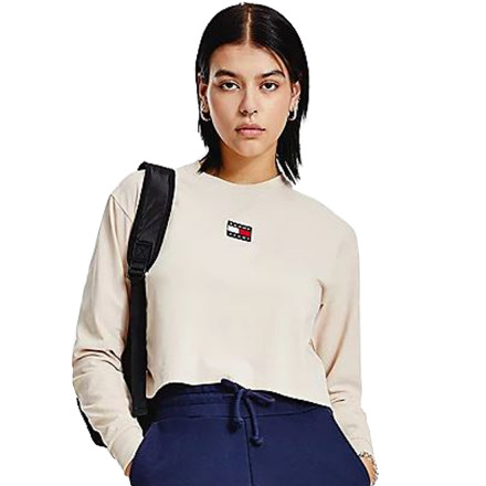 JERSEY CROP TOMMY BADGE TOMMY HILFIGER MUJER