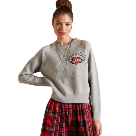 JERSEY COTTON CREW SUPERDRY MUJER
