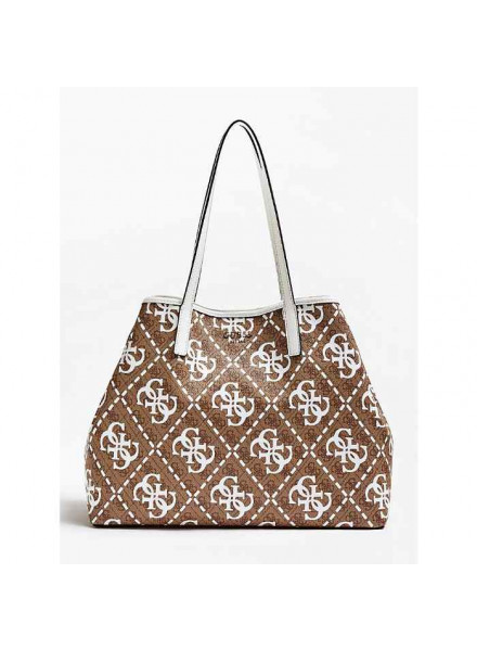 Bolso Guess Vikky Large White Multi