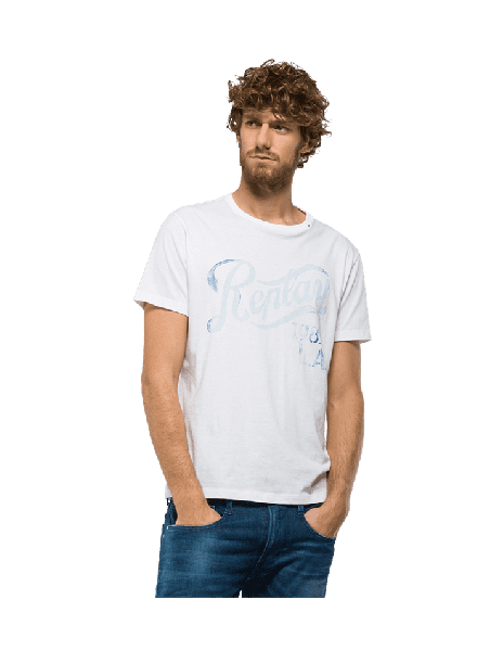 Camiseta Replay H. Op White