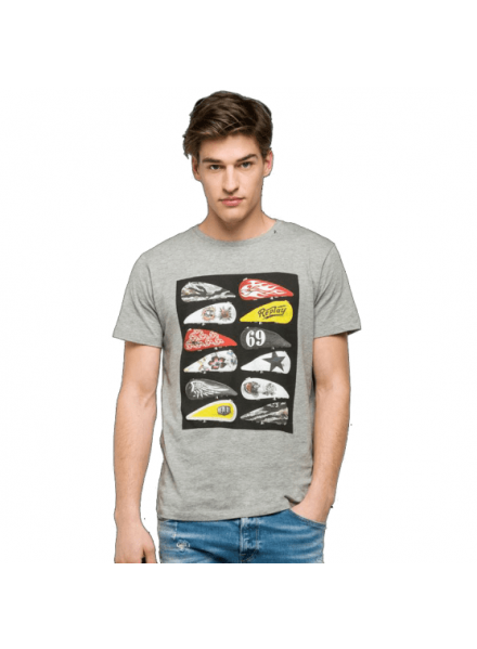 Camiseta Replay H. Grey Melan