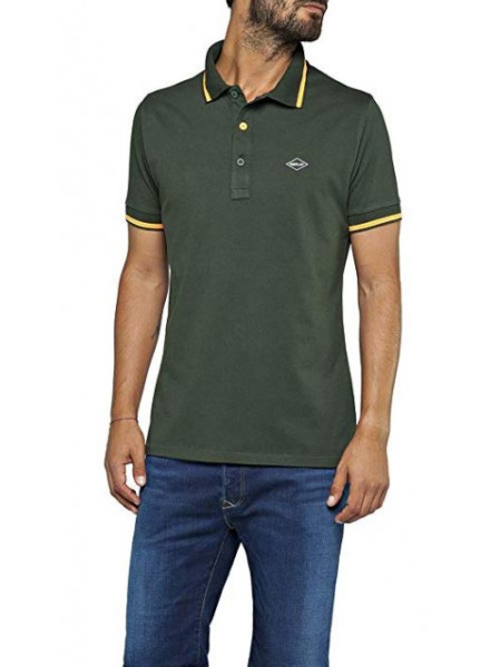 Polo Replay Stretch Dark Green