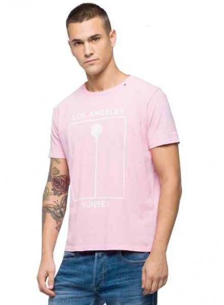 Camiseta Replay G. Dyed Open End Ha Rose