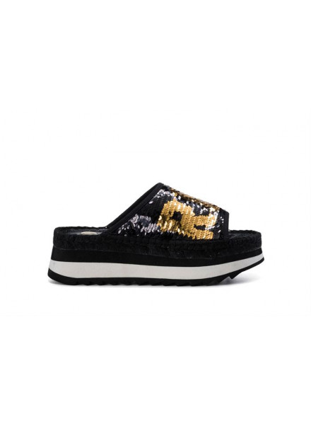 Sandalias Replay Chistine Black Gold